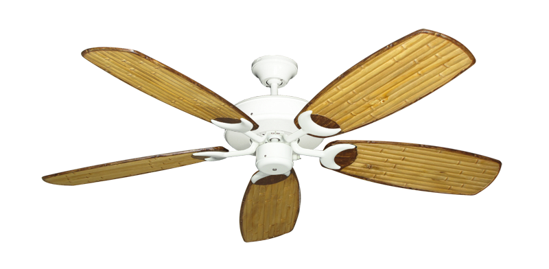 "Picture of Patio Fan Pure White with 52"" Series 275 Arbor Bamboo Blades"