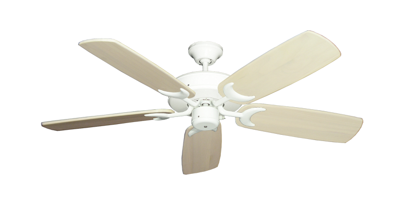 """Picture of Patio Fan Pure White with 52"""" Series 425 Arbor Whitewash Blades"""