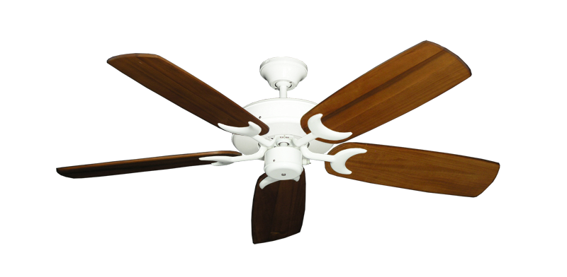 "Picture of Patio Fan Pure White with 52"" Series 425 Arbor Oak Blades"