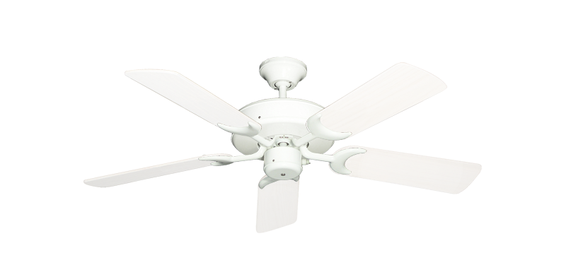 """Patio Fan Pure White with 44"""" Outdoor Pure White Blades"""