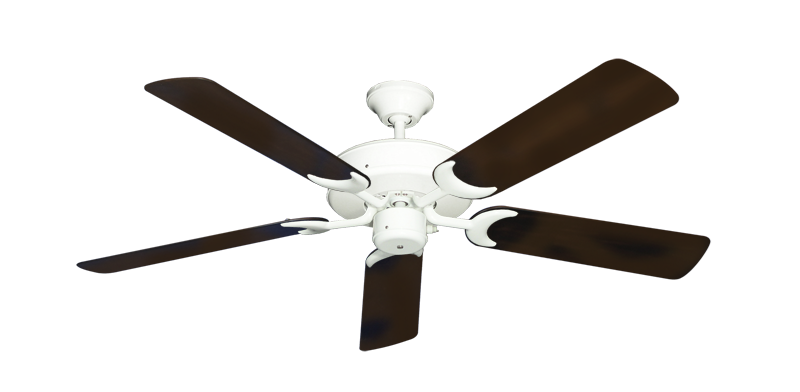 "Picture of Patio Fan Pure White with 52"" Outdoor Oil Rubbed Bronze Blades"