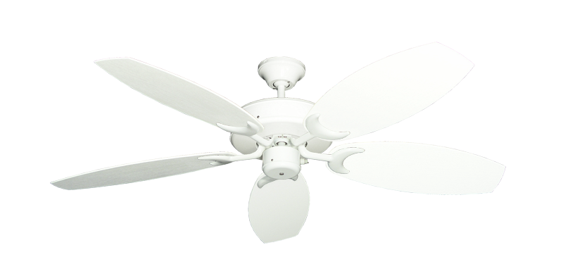 "Picture of Patio Fan Pure White with 52"" Outdoor Oar Pure White Blades"