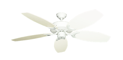 "Picture of Patio Fan Pure White with 52"" Outdoor Oar Antique White Blades"