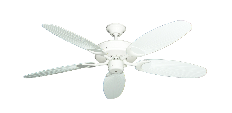 "Picture of Patio Fan Pure White with 52"" Outdoor Leaf Pure White Blades"