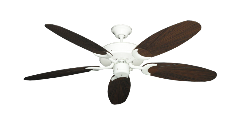 "Picture of Patio Fan Pure White with 52"" Outdoor Leaf Oil Rubbed Bronze Blades"