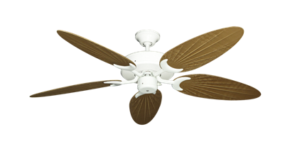"Picture of Patio Fan Pure White with 52"" Outdoor Palm Walnut Blades"
