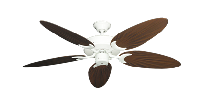 "Picture of Patio Fan Pure White with 52"" Outdoor Palm Oil Rubbed Bronze Blades"