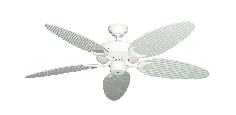 "Picture of Patio Fan Pure White with 52"" Outdoor Bamboo Pure White Blades"