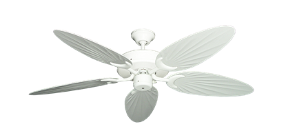 "Picture of Patio Fan Pure White with 52"" Outdoor Palm Pure White Blades"