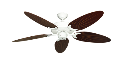 "Picture of Patio Fan Pure White with 52"" Outdoor Palm Wine Blades"