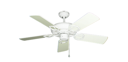 """Picture of Trinidad Pure White with 44"""" Antique White Gloss Blades"""