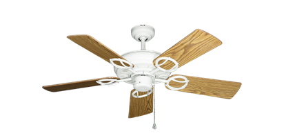 """Picture of Trinidad Pure White with 44"""" Oak Gloss Blades"""