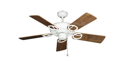 """Picture of Trinidad Pure White with 44"""" Walnut Gloss Blades"""