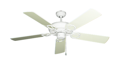 """Picture of Trinidad Pure White with 52"""" Antique White Gloss Blades"""