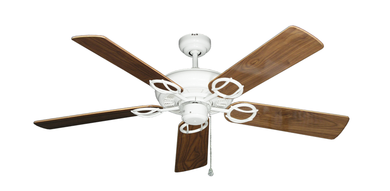 """Picture of Trinidad Pure White with 52"""" Walnut Gloss Blades"""