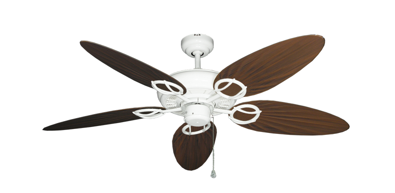 """Picture of Trinidad Pure White with 52"""" Outdoor Palm Oil Rubbed Bronze Blades"""