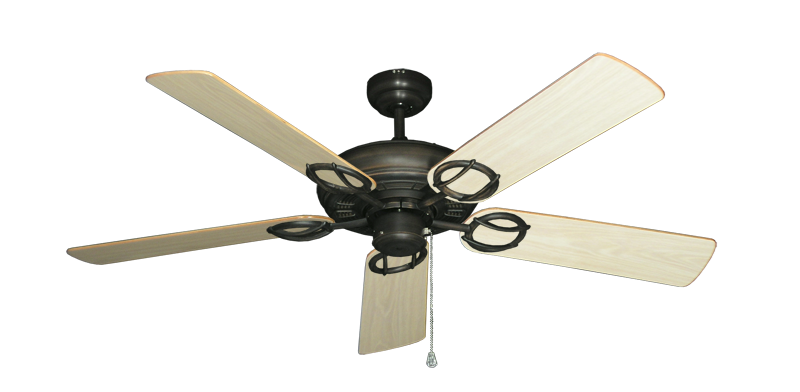 "Picture of Trinidad Oil Rubbed Bronze with 52"" Bleached Oak Gloss Blades"