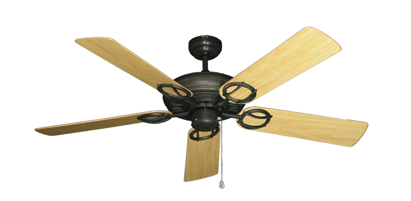 """Picture of Trinidad Oil Rubbed Bronze with 52"""" Honey Oak Gloss Blades"""