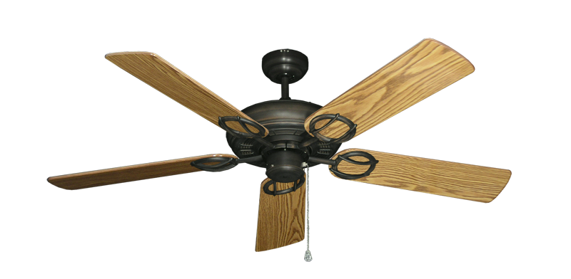 "Picture of Trinidad Oil Rubbed Bronze with 52"" Oak Gloss Blades"
