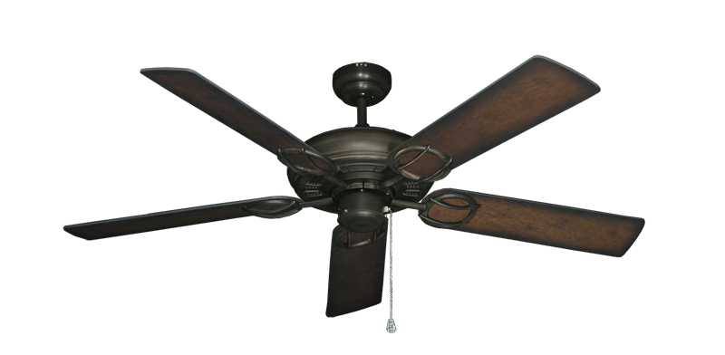 "Picture of Trinidad Oil Rubbed Bronze with 52"" Distressed Hickory Blades"