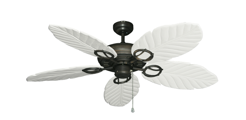"Picture of Trinidad Oil Rubbed Bronze with 52"" Series 125 Arbor Pure White Blades"