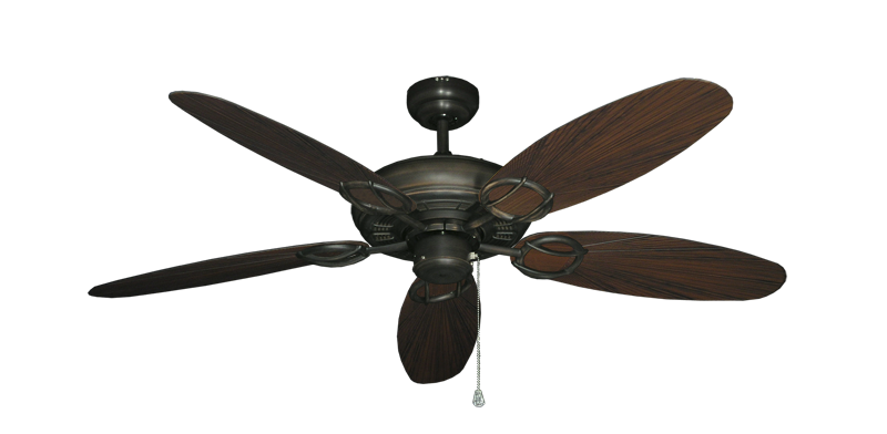 "Trinidad Oil Rubbed Bronze with 52"" Outdoor Leaf Oil Rubbed Bronze Blades"