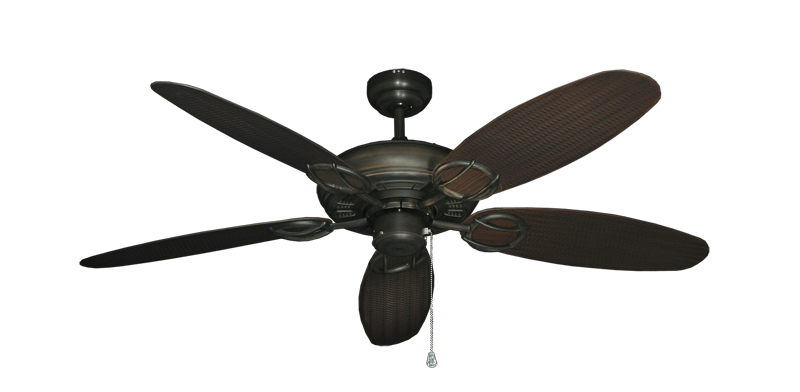 """Picture of Trinidad Oil Rubbed Bronze with 52"""" Outdoor Wicker Oil Rubbed Bronze Blades"""