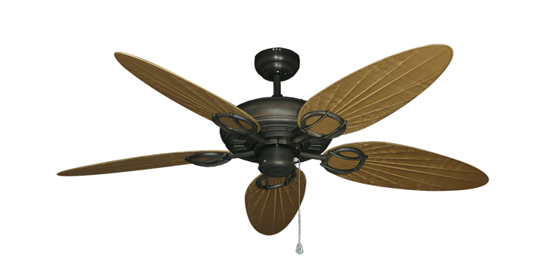 "Picture of Trinidad Oil Rubbed Bronze with 52"" Outdoor Palm Walnut Blades"