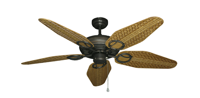 "Picture of Trinidad Oil Rubbed Bronze with 52"" Outdoor Weave Walnut Blades"