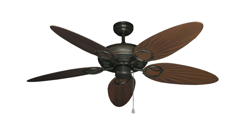 "Picture of Trinidad Oil Rubbed Bronze with 52"" Outdoor Palm Oil Rubbed Bronze Blades"
