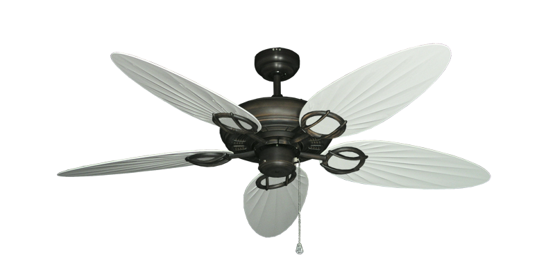 "Picture of Trinidad Oil Rubbed Bronze with 52"" Outdoor Palm Pure White Blades"