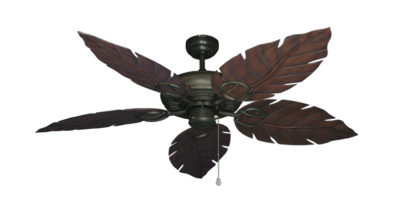 "Picture of Trinidad Oil Rubbed Bronze with 52"" Venetian Oil Rubbed Bronze Blades"