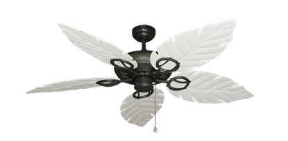 """Picture of Trinidad Oil Rubbed Bronze with 52"""" Venetian Pure White Blades"""