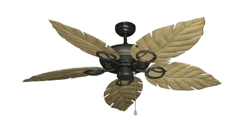 """Picture of Trinidad Oil Rubbed Bronze with 52"""" Venetian Walnut Blades"""