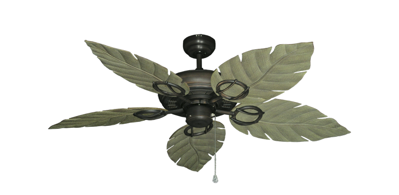 """Picture of Trinidad Oil Rubbed Bronze with 52"""" Venetian Driftwood Blades"""