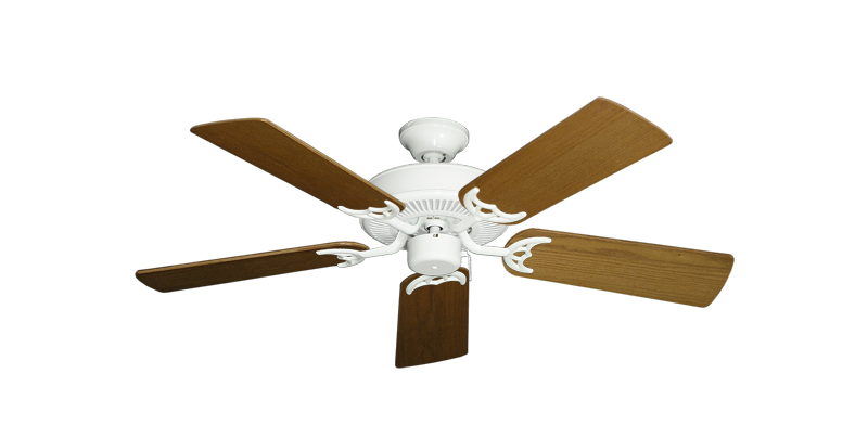 """Picture of Bermuda Breeze V Pure White with 44"""" Light Oak Blades"""