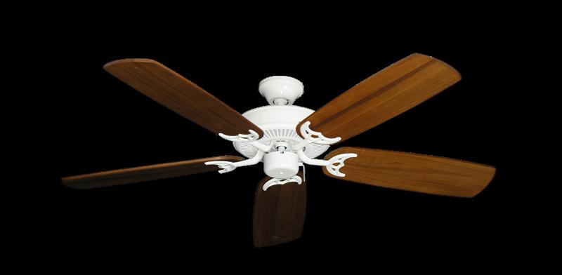 "Bermuda Breeze V Pure White with 52"" Series 425 Arbor Oak Blades"