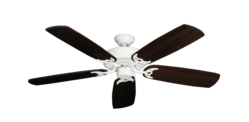 """Picture of Bermuda Breeze V Pure White with 52"""" Series 425 Arbor Cherrywood Blades"""