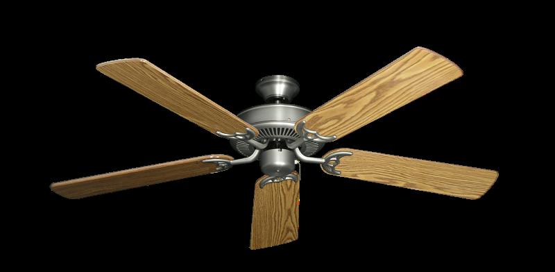 "Bermuda Breeze V Satin Steel with 52"" Oak Gloss Blades"