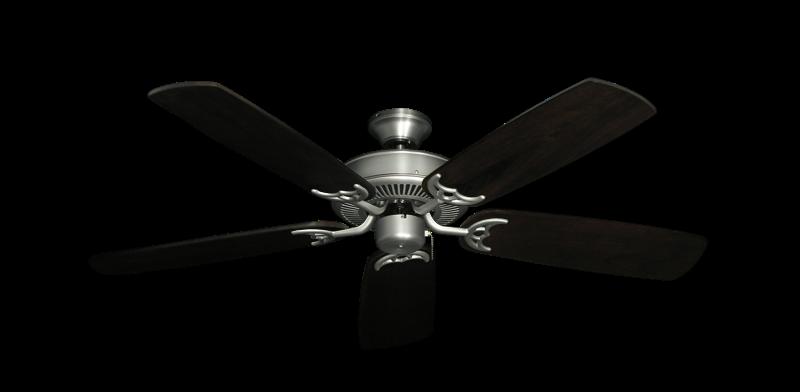 "Picture of Bermuda Breeze V Satin Steel with 52"" Series 425 Arbor Dark Walnut Blades"