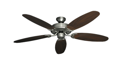 "Picture of Bermuda Breeze V Satin Steel with 52"" Outdoor Leaf Oil Rubbed Bronze Blades"