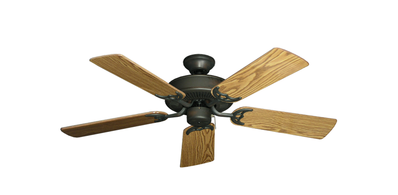 "Picture of Bermuda Breeze V Oil Rubbed Bronze with 44"" Oak Gloss Blades"