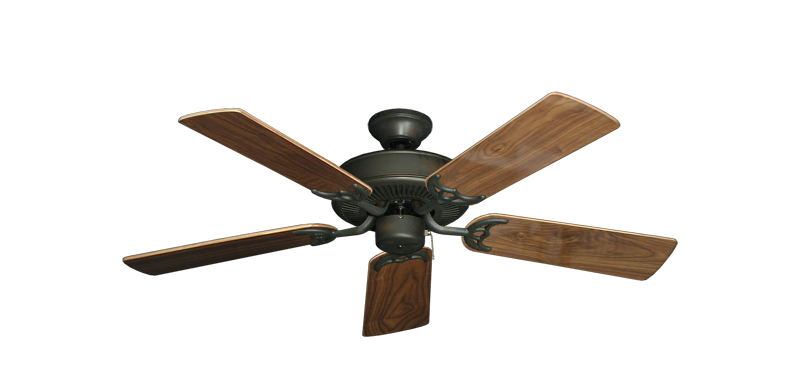 """Picture of Bermuda Breeze V Oil Rubbed Bronze with 44"""" Walnut Gloss Blades"""