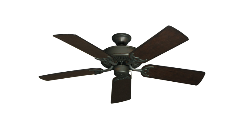 "Picture of Bermuda Breeze V Oil Rubbed Bronze with 44"" Distressed Walnut Blades"