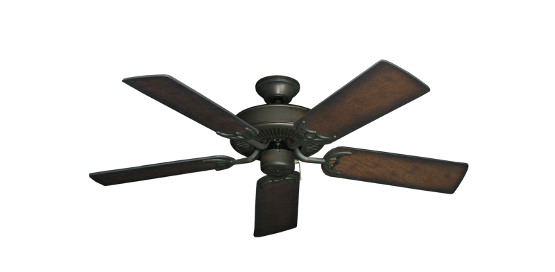 """Picture of Bermuda Breeze V Oil Rubbed Bronze with 44"""" Distressed Hickory Blades"""