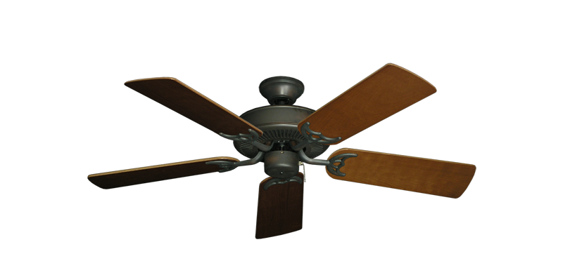 """Picture of Bermuda Breeze V Oil Rubbed Bronze with 44"""" Natural Cherry Blades"""