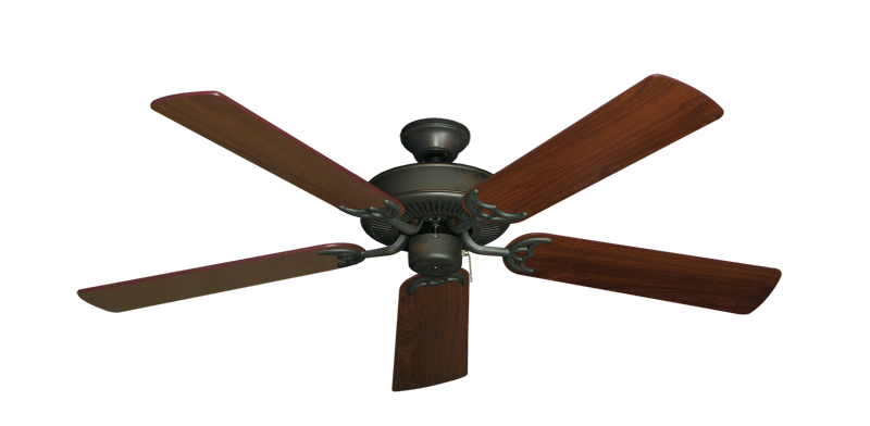 "Picture of Bermuda Breeze V Oil Rubbed Bronze with 52"" Walnut Blades"