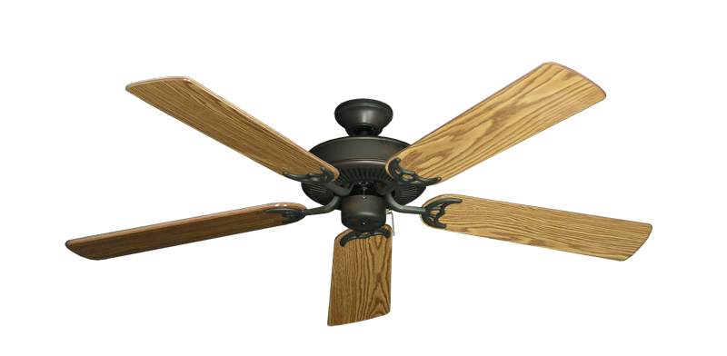 "Picture of Bermuda Breeze V Oil Rubbed Bronze with 52"" Oak Gloss Blades"