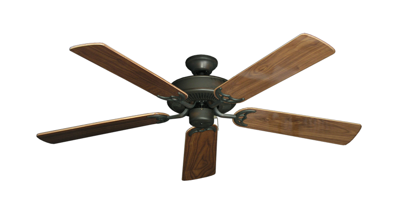"Bermuda Breeze V Oil Rubbed Bronze with 52"" Walnut Gloss Blades"