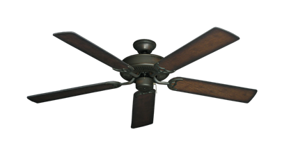 """Bermuda Breeze V Oil Rubbed Bronze with 52"""" Distressed Hickory Blades"""